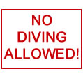 Swimming pool signs